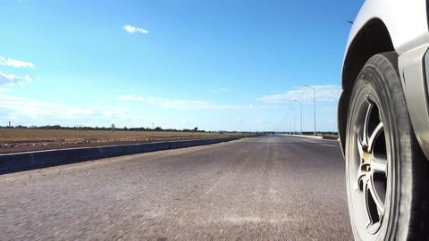 Car On A Road Footage
