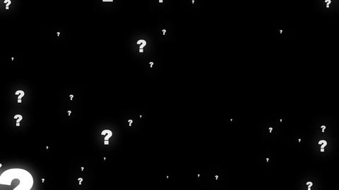 Question mark particles Footage