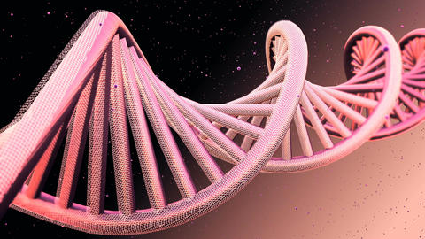 Rotating model of DNA strands. Loopable Background Animation