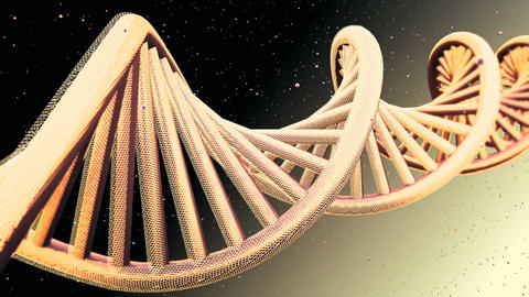 Rotating model of DNA strands. Loopable Background CG動画素材