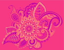 Flower Pattern Bright Abstract wallpaper vintage ベクター