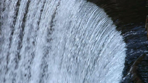 River with a raging waterfall Footage