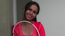 Pretty Female Tennis Player Footage