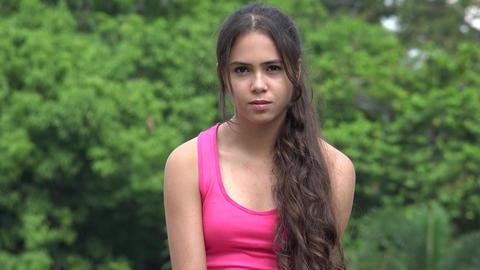 Female Hispanic Teen Happiness Laughter Love Footage