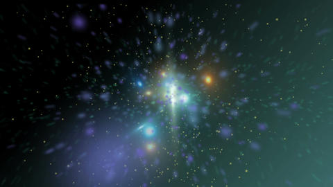 Green space particles exploding Live Action
