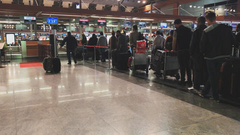 TURKEY ISTANBUL ATATURK AIRPORT 23-11-2017: Ataturk Airport or former name Live Action