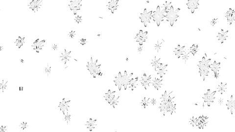 銀の紙吹雪(少なめ) CG動画