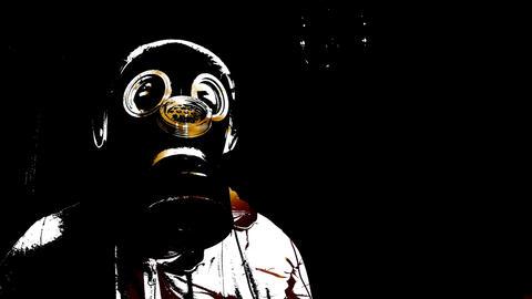 Acid Gas Masks and Fingers Mix 4K Animation