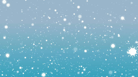 Snowflakes and Light Blue BG Animation