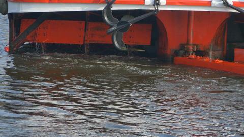 Paddle Wheels Large Boat Footage