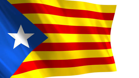 Catalonia flag waving Animation