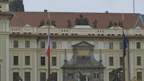 Prague Castle Main Building Footage