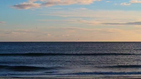 beach at dawn Footage