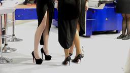 Female feet in heels Footage