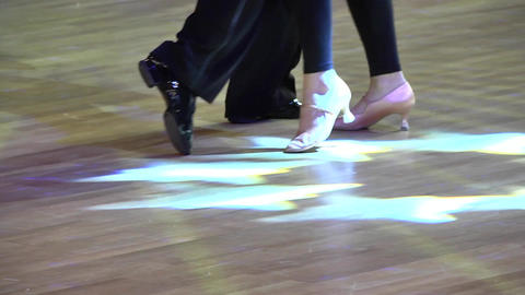 Feets of dancers who perform graceful movements during a competition 48 Live Action