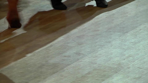 Feets of dancers who perform graceful movements during a... Stock Video Footage