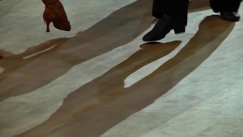 Feets of dancers who perform graceful movements during a competition 09 Live Action