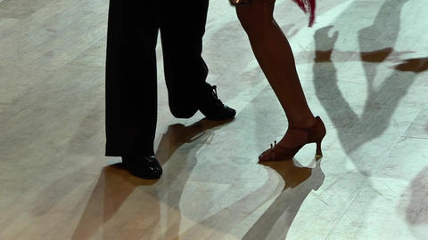 Feets of dancers who perform graceful movements during a competition 14 Live Action