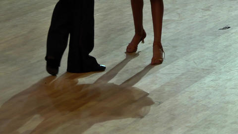 Feets of dancers who perform graceful movements during a competition 24 Live Action