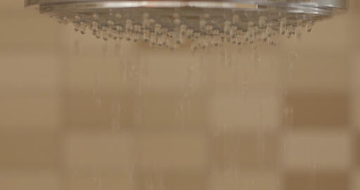 Close up Shower head with water dropping Footage