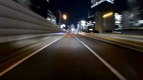 POV timelapse from central Tokyo to the new C2 highway tunnels 影片素材