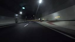 Driver POV through curves inside tunnels on the highway Footage