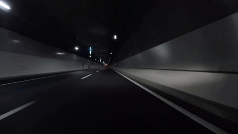 Driver POV entering the curves and tunnel of the new C2 ring route on Tokyo Metr Footage