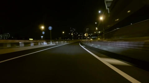 Driver view cornering through the new junction into the C2 Highway Footage