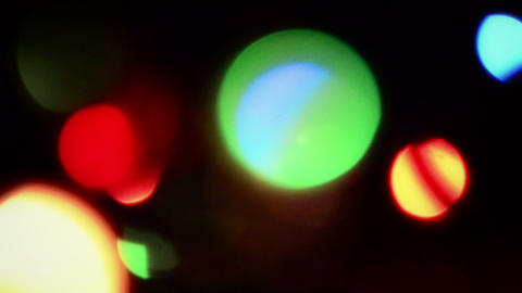 Bokeh Lights Moving And Rotating Background Animation