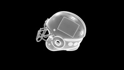 Football Helmet Nice Wireframe Animation 30FPS Animation