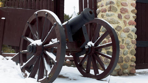 An Old Cannon stock footage