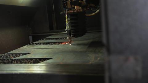 Lazer Cut Metal. Factory stock footage