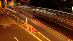 High angle nightlapse of Tokyo Metropolitan Highway Footage