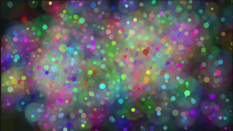 Abstract background with moving colored balls ビデオ