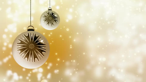 White and gold Christmas decoration with dynamic golden lights Animation
