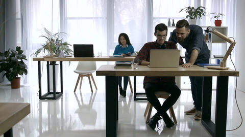 Business people working together in office Footage