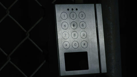 Closeup of swiping an ID access key card Footage