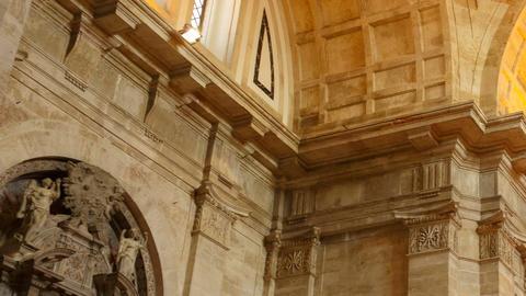 Igreja de Sao Vicente de Fora, Lisbon, Portugal Footage