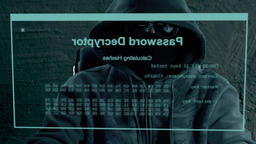 Hacker crack secret password. A hacker is preparing an attack on hacking portal Live Action