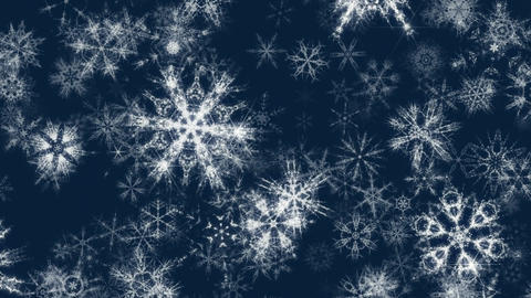 Pretty Snow 2 - 4k Glittering Christmas Snowflakes Video Background Loop CG動画素材