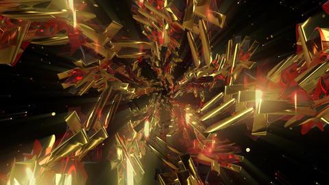 Gold Abstraction 4K 01 Vj Loop Animation