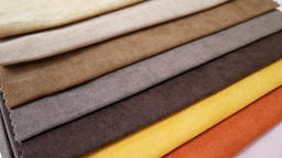 Colorful fabric samples Image