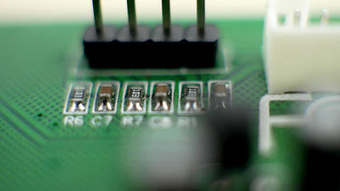Electronic green circuit board Footage