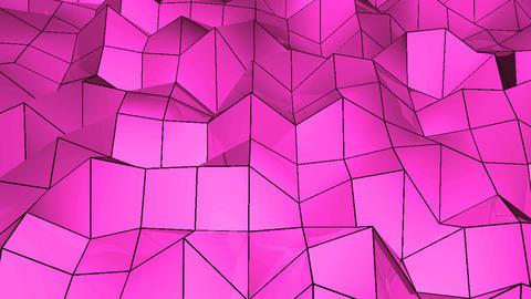 Abstract Polygonal Geometric Surface Loop. 4k resolution. Digital background ビデオ