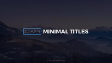 Clean Minimal Titles After Effects Template