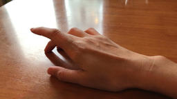 hand of a man tapping his fingers on the table Footage