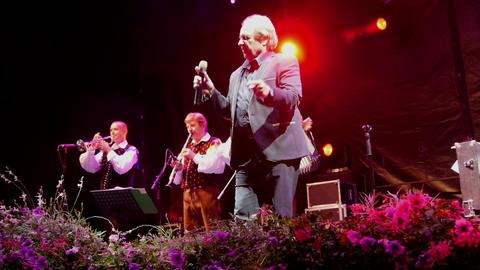 LASKO, SLOVENIA, 2017.07.15: National singer Alfi Nipic preforming at stage Footage