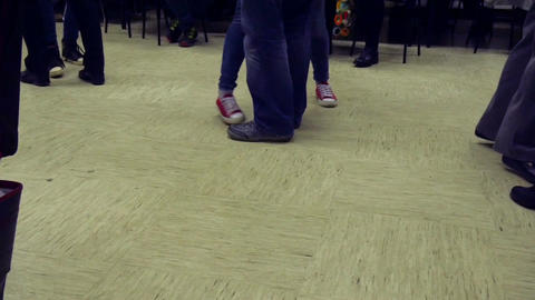 Pairs dancing polka on national folk music in slow motion hd Footage