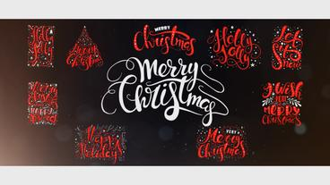 10 Hand Drawn Animated Christmas Titles Plantilla de After Effects