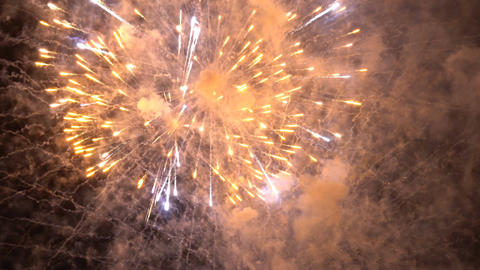 Colorful fireworks in the night sky Footage